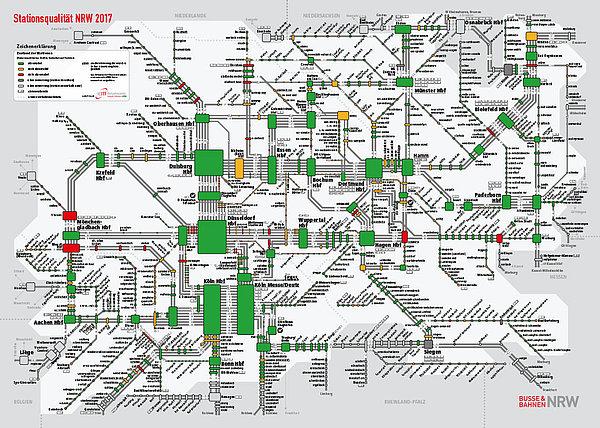 Ansicht der Stationsqualität in NRW 2017